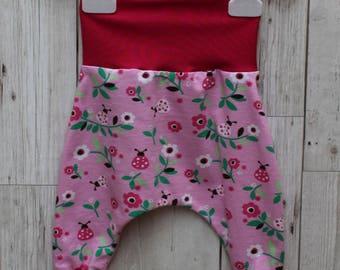 Peedie Boo Organic Cotton Harem Style Trousers....Ladybug