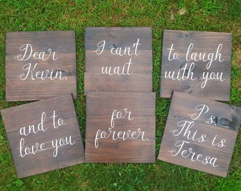 Wedding Aisle Signs - Custom Aisle Decoration- Wood Wedding Sign - Ceremony Sign - Letter to Bride or Groom - Wedding - Anniversary