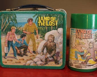 Vintage 1975 Aladdin Land of the Lost Lunchbox and Thermos