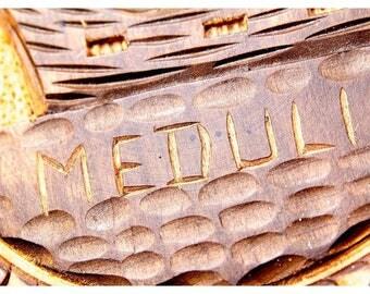 """Vintage Hand-Carved Croatian Wooden Platter """"Medulin"""""""