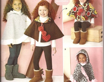 Child Girl Reversible Cape and Poncho Sewing Pattern / Simplicity 1263 / Size Small - Large  / Easy to Sew / UNCUT