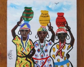 Miniature Painting--Women Carrying Water