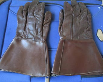 Heavy Vintage Gloves - Leather Gloves - Pirate Gloves - Gloves for Costumes - Male or Female - Steampunk Gloves - Steampunk - Reenactments