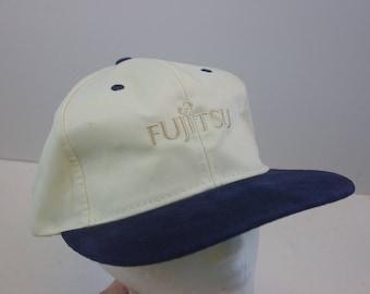 Vintage Fujitsu fuji hat cap leather brim minimal leather strap film camera