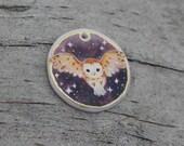 Barn Owl Mini Painting Charm