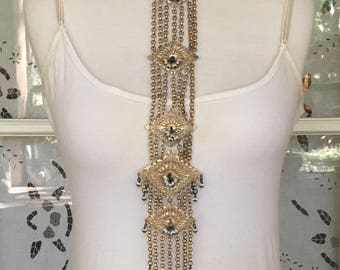 Statement Long 1970's Necklace
