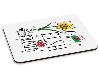 I'm Welsh And Proud PC Computer Mouse Mat Pad