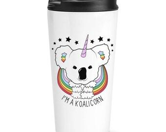 I'm A Koalicorn Unicorn Travel Mug Cup