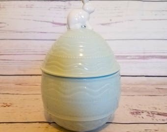 Easter bunny ceramic cookie jar