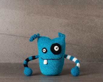 Arnold the Monster; amigurumi, crocheted, crocheted critter, teenager, toy, softie, gift.