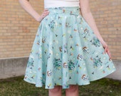 BACK IN STOCK! Peter Pan's Mermaid Lagoon Inspired Printed Circle Swing Skirt