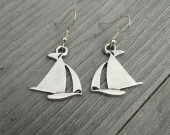 Maritime Earrings Boat Ship Ahoy gift for seafaring brides