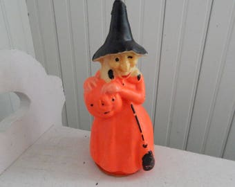 Gurley Halloween Witch Candle - New, Unused Vintage Halloween Candle - Collectible Gurley Witch Candle - Collectible Halloween Decoration