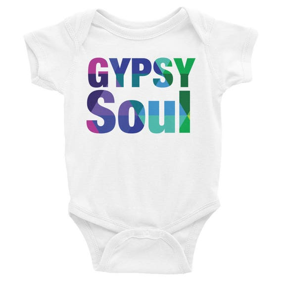 Infant Bodysuit with Colorful Gypsy Soul on the Front