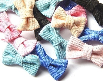 20 mini bows for sewing and embellishment