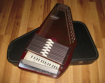 Autoharp Oscar Schmidt 12 Chord Diatonic Conversion made in USA with Case