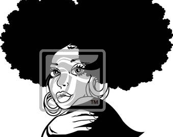 Focsi Lady with Afro Puffs 2 PNG