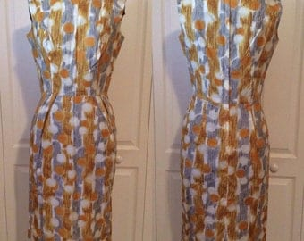 Vintage 50's/60's Deadstock Cotton Wiggle Dress