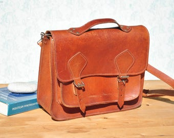 Mens leather bag, leather bag for men, vintage leather bag, leather bag vintage, brown leather bag, leather office bag, leather shoulder bag