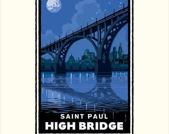 Landmark MN | Saint Paul High Bridge Night by Mark Herman