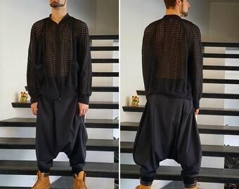 Mod-Harem pants Black Linen