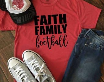 Faith. Family. Football Tee