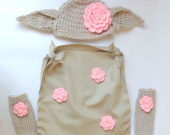 Dobby Costume With Leg Warmers - The House Elf Hat And Costume  From Harry Potter For Girl- Newborn Halloween / Cosplay Wig/