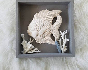 Fish on the coral reef wall art
