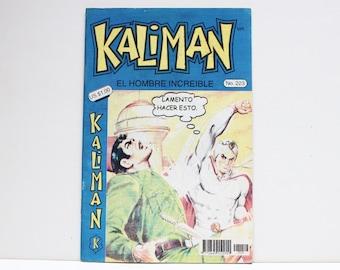 Kaliman El Hombre Increible No 223 La Bruja Blanca Revista en Español Comic Book in Spanish RARE