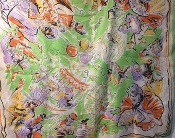 Lovely vintage Carnavale / Masquerade Ball scarf