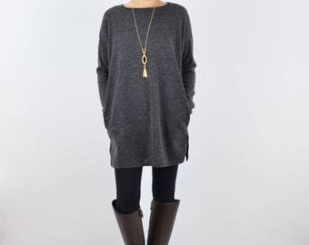 Elbow Patch Knit Tunic