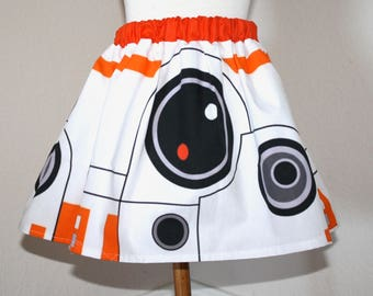 BB8 Skirt for Young  Gals, Sizes 12 Months to 12 girls
