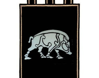 Fully lined Celtic boar banner
