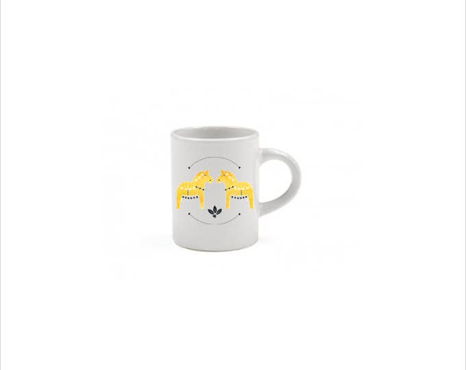 Yellow Dala Horse Espresso Mug