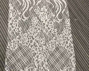 Chantilly Lace veil ,eyelash Lace Fabric, 59 inches Wide for Veil, Dress, Costume, Craft Making,Designourlife lace