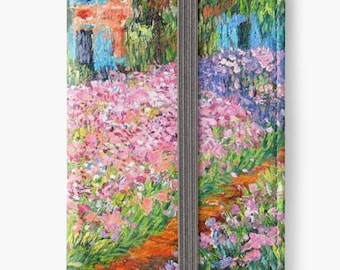 Folio Wallet Case for iPhone 8 Plus, iPhone 8, iPhone 7, iPhone 6 Plus, iPhone SE, iPhone 6, iPhone 5s - The Garden at Giverny by Monet Case