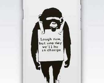 Case for iPhone 8, iPhone 6s,  iPhone 6 Plus,  iPhone 5s,  iPhone SE,  iPhone 5c,  iPhone 7  - Laugh Now By Banksy