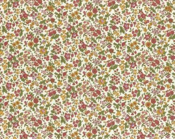 Lecien Memoire A Paris LAWN - Fat Quarter in Pink /Red/Yellow