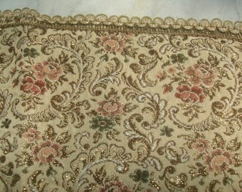 antique gold brocade dollie / square brocade table cover/
