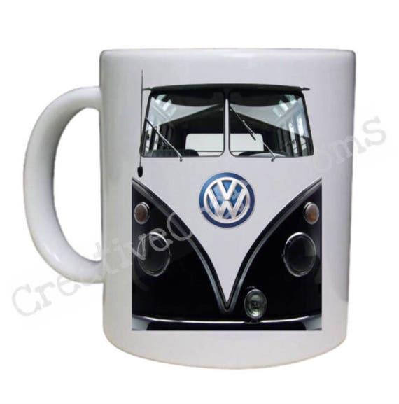 Volkswagen van, Black and white VW bus, Vw mug, Vw Camper, VW Van Coffee Mug, Vw Camper Mug, Camper coffee mug, Vw Microbus, VW Bus Mug