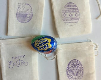 Easter sunday gifts etsy easter gift bags muslin 4 x 3 available in 4 x 6 5 x negle Gallery