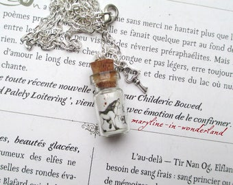 "Silver vial necklace magic ""Werewolf blood"""