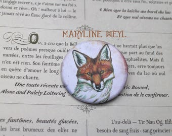 "badge pin ""Fox"""