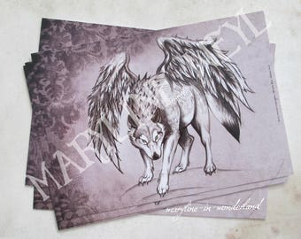 "x 1 ""in the footsteps of werewolves"" postcard"