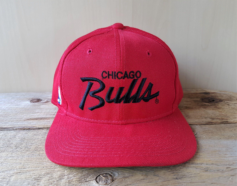 a0e3dfbe3da ... 50% off vintage 90s chicago bulls sports specialties single line script  snapback hat official nba
