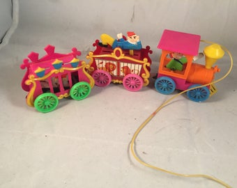 Vintage Plastic Circus Train Holiday Decoration