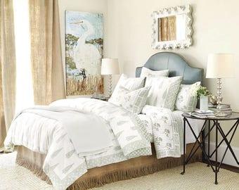 Luxury Fringe Burlap Bedskirt - Bed Skirt with Trim - Rustic Bedskirt - Bedroom Decor - Farmhouse Bedskirt - Burlap Valance - Queen Size