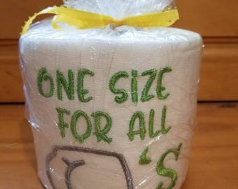 One Size Embroidered Toilet Paper