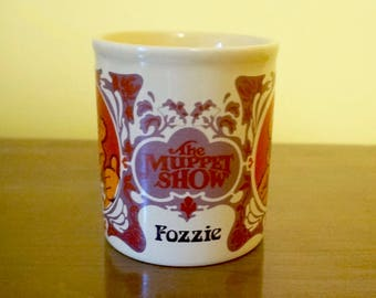 The Muppet Show; Ceramic Mug; Fozzie Bear; Approx. 3.5 x 5 in. 1978; Made in England !!!