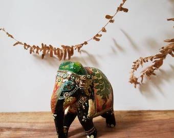 Vintage Miniature Wooden Elephant